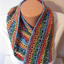 Hand Crocheted Eternity Infinity Scarf the Color Is Meadow  Gorgeous   Photo