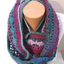 Hand Crocheted Eternity Infinity Scarf the Color Is Pompidou Photo