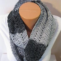 Hand Crocheted Eternity Infinity Scarf the Color Is Quicksilver  Gorgeous   Photo
