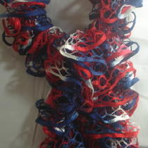 Hand Knit Ruffle Scarf for Mother's Day -