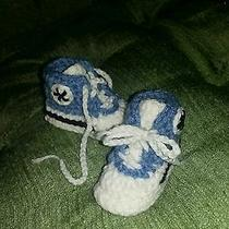 Hand Made Crocheted Infant Converse Photo
