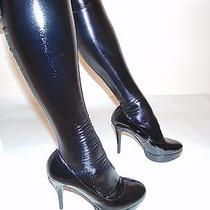 Hand Made Extreme Shine Lacquered Fabric Sexy Fetish Stockings Size L Photo