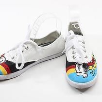 Hand Painted Keds Style Shoes Size 7 Photo