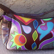 Hand Painted Shoulder Purse  Anuschka  Inspired Art  1ofakind Fine Leather  Photo