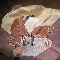 Hand Painted Silk Scarf of Canada Geese by Celine Photo