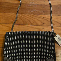 Handbag Express Blackstudsiridescent Rhinestones Crossbodypurse Photo