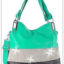 Handbag Hand Bag Tote Purse Hobo Bag Beautiful Bling Rhinestones Photo