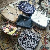 Handbag Lot of 6 Coach Dooney Bourke Salvatore Ferragamo Fossil to Be Restored Photo