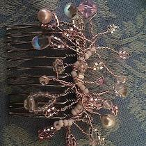 Handcrafted Hair Comb With Swarovski Elements for Bride or Prom Photo