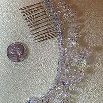 Handcrafted Swarovski Hairpiece for Bride or Prom Photo