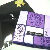 Handerchief Yves Saint Laurent Ysl Rose Gradation Stained Glass Looking Purple Photo