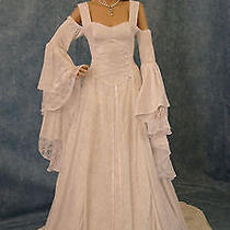 Handfasting Medieval Wedding Dress Lotr Renaissance Fantasy Gown Custom Made Photo
