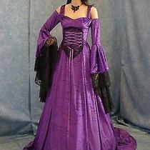 Handfasting Medieval Wedding Dress Lotr Renaissance Fantasy Gown Custom Made  Photo