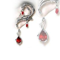 Handmade Alchemy Gothic Earring Passion English Pewter Swarovski Crystal Photo