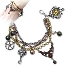 Handmade Alchemy Gothic Steampunk Mrs Hudson's Cellar Keys Bracelet Photo