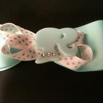 Handmade Barbie Hairbow Hair  Bow Aqua With Barbie Head Photo