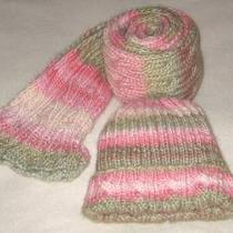Handmade Cable Scarf & Hat Set Reversible Palindrome Scarf Very Unique Soft Hues Photo