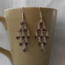 Handmade Chandelier Earrings Smoked Topaz Swarovski Crystal Earrings  E2222c Photo