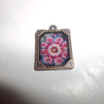 Handmade Charm or Pendant Vera Bradley Pattern Altered Art Design (You Pick 1) Photo