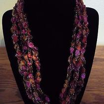 Handmade Crocheted Adjustable Ladder Ribbon Necklace - Blush Twinkle Photo