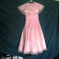 Handmade Fancy Pink Satin Ball Dress/costume (Size 6-8) Photo