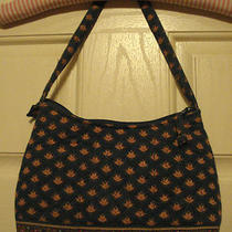 Handmade Handbag Purse Quilted Fabric Nice & Clean Photo