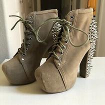 Handmade Havana Last Jeffrey Campbell Spike Tan Boots - Size 6 Photo