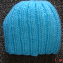 Handmade  Knitted Baby Infant Newborn Beanie Hat - Aqua - New Photo