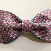 Handmade Mens Bow Tie From Vineyard Vines Pink Whale Scarf Must See Photo