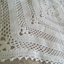 Handmade Vintage Style Fancy White Baptism - Christening  Baby Blanket   Photo