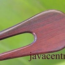 Handmade Wooden Hair Jewelry Pin Pick Fork Sono Wood Elegant Natural Bali New  Photo