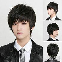 Handsome Boys Wig New Vogue Korean Short Black  Natural Cosplay Wigs Photo