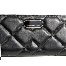 Handsome Marc Jacobs Black Quilted  Leather Wallet  - 208 Retail Photo