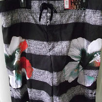 Hang Ten Heathered Hibiscus Board Shorts Size Extra Large New Photo