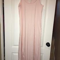 Hanro Womens Cotton Deluxe Long Tank Gown Blush Small Photo