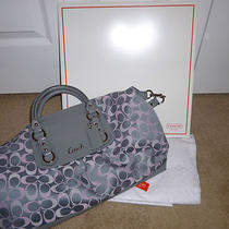 Happy Mother's Day Nwt Coach Ashley 3 Color Satchel Grey/pink F18437 Photo