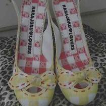Harajuku Lovers Plaid Heel Ants on the Heel Pinup Rockabilly Viva Las Vegas Nwot Photo