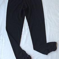 Hard Tail Black Ankle Leggings Yoga Pants Ruched Shirred Button Hem Nwt 65 M Photo