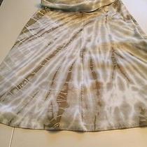 Hard Tail Cotton Tan and Cream Tie Die Skirt Medium  Photo
