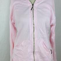 Hard Tail Forever 100% Cotton Pre-Shrunk Pink Full Zip Up Hooded Sweater One Sz Photo