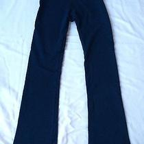 Hard Tail Navy Fold Over Waist Yoga Pants Medium Lbn Thinly Fleece Lined Htf Photo