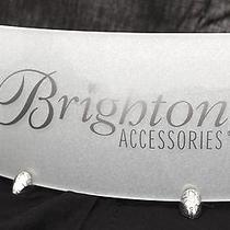 Hard to Find Brighton Name Display Holder  Clear Acrylic Silver Photo