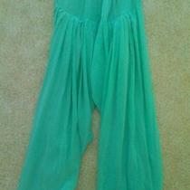 Harem Pants 100% Silk Boho India Saree Belly Dancing Aqua Turquoise Photo