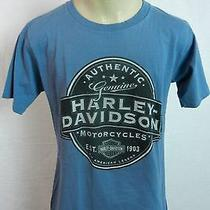 Harley Davidson Authentic Motorcycles Tucson Az Blue T-Shirt Women's Medium Photo