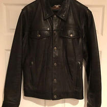 Harley Davidson Awesome Men's Leather Jacket Black Medium Very Rare Nr M Photo