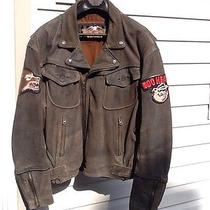 Harley Davidson Billings Brown Leather Jacket Men Xl Photo