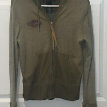 Harley Davidson Full Hooded Zip With Patch on Back Small Photo