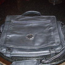 Harley Davidson Genuine Leather Briefcase/laptop Bag Photo