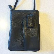 Harley Davidson Genuine Leather Purse Cell Phone Holder Iphone Tote Photo