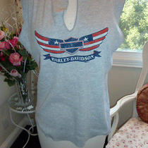 Harley Davidson Gray Sleeveless Shirt Size Xl Photo